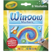 Crayola® Conical Window FX Art Marker, Assorted, 8/Pack (58-8165)