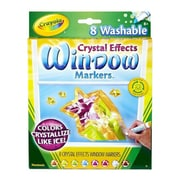 Washable Window FX Markers, Conical, Astd Crystalized Colors, 8/Set