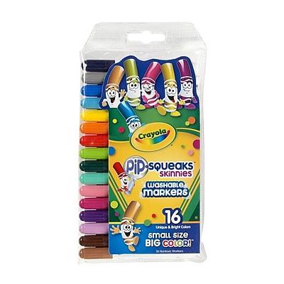 Crayola® Pip-Squeaks® Skinnies Marker, Assorted, 16/Pack (58-8146)
