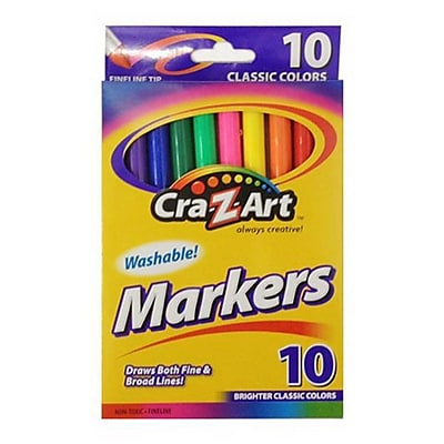 Cra-Z-Art® Classic Broad Fineline Marker, Assorted, 10/Pack (10087-48)