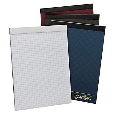 Ampad® Gold Fiber® Series Wirebound Pad, Quad Ruled, 12 1/4