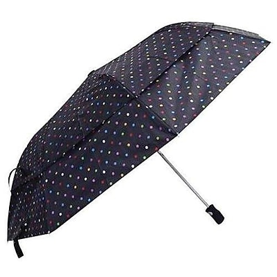 Totes® Stormbeater Automatic Double Vented Folding Umbrella, Assorted (00762RAST)
