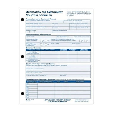 Adams Bilingual Employee Application Form Pad Part  Forms
