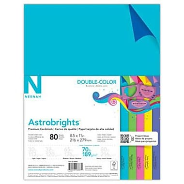 Neenah Paper Astrobrights® Double Color Cardstock, 8 1/2