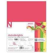 """Astrobrights Premium Color Paper, 8.5"""" x 11"""", 32 lb., """"Bright"""" 4-Color Assortment, 100 Sheets/Pack (98878)"""