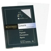 "Southworth 25% Cotton Business Paper, 8.5"" x 11"", 24 lb. Linen Finish, White, 100 Sheets/Pack (P554CK)"