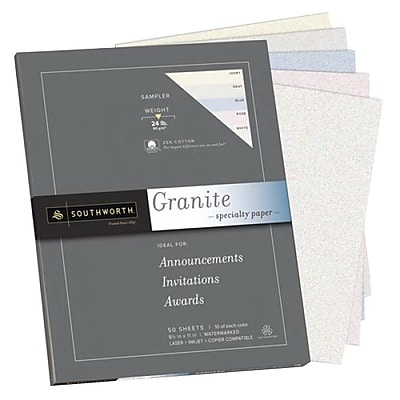 Southworth Granite Specialty Sampler Paper, 8.5