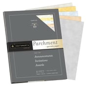 "Southworth Parchment Specialty Sampler Paper, 8.5"" x 11"", 24 lb., Assorted, 50/Pack (P984S)"