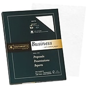 "Southworth 25% Cotton Business Paper, 8.5"" x 11"", 20 lb., Wove Finish, White, 100 Sheets/Box (P403C)"