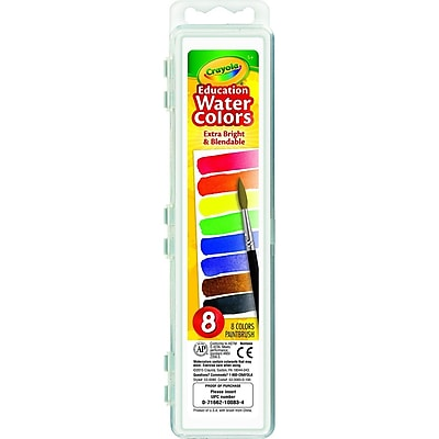 Crayola® Extra-Bright Watercolors Paint, Blendable, Washable (53-0083)