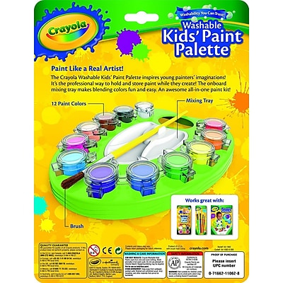 Crayola® Kids Paint Pallet Set, Blendable, Washable (54-1062)