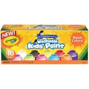 Crayola 10-color Neon Washable Kids Paint, 2 oz., 10/Set, Assorted