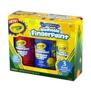 Crayola® Primary Bold Finger Paint, Non-Toxic, Washable, 8 oz., 3/Pack (55-1310)