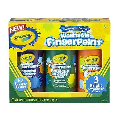 Crayola® Washable Bright Finger-paints, Secondary Colors, 8 oz.