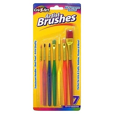 Cra-Z-Art® All-Purpose Artist Brush Set, Shed Proof, 7/Pack (10700-72)