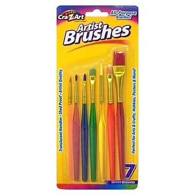 Cra-Z-Art® All-Purpose Artist Brush Set, Shed Proof, 7/Pack (10700-72)