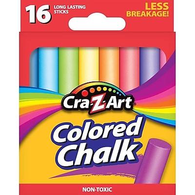 Cra-Z-Art® Colored Chalk, Non-Toxic Sticks, 16/Box (10801-48)