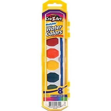 Cra-Z-Art® Watercolors Paint, Non-Toxic, Washable, 8/Pack (10651-72)