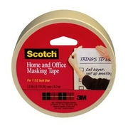 "Scotch® 1"" x 55 yds Home and Office Masking Tape, Tan, 1 Roll (01-06-3437)"