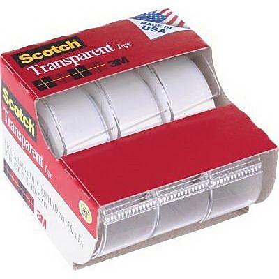 Scotch® Transparent Tape, 3/4
