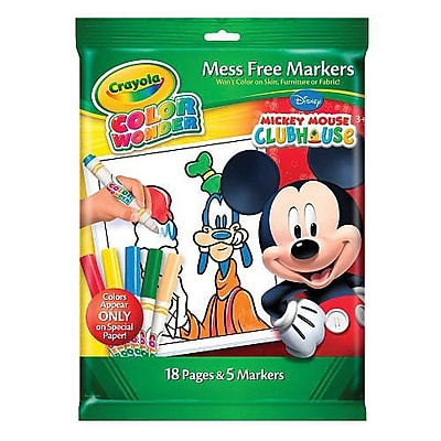 Crayola® Color Wonder Mickey Mouse Mess Free Coloring Book & Marker (75-2296)