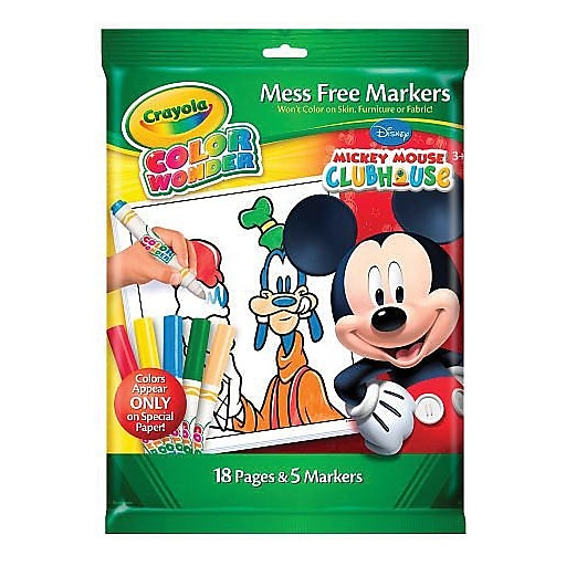 Crayola® Color Wonder Mickey Mouse Mess Free Coloring Book & Marker ...