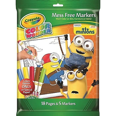 Crayola Minions - Color Wonder Coloring Pad (75-2530)