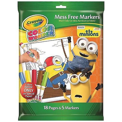 Crayola Minions - Color Wonder Coloring Pad (75-2530) | Staples