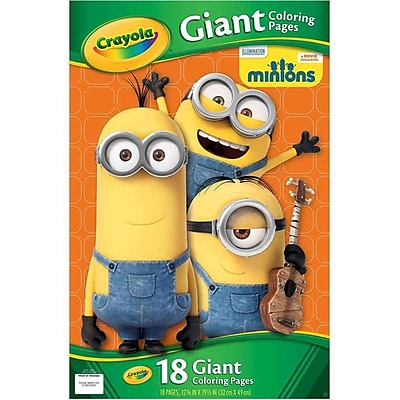 Crayola Minions Giant Coloring Pages (01-04-2004) 1643481