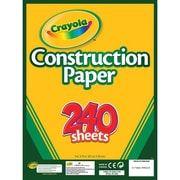 "Crayola Construction Paper, 12"" x 9"", 240 / Carton, Assorted"