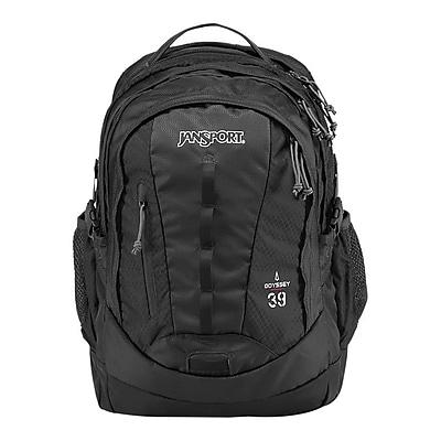 Jansport Odyssey Black Polyester/Nylon Backpack (T14G008)