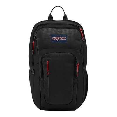Jansport Recruit Black Nylon/Polyester Backpack (T69G008)