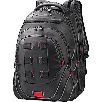 Samsonite® Tectonic Black/Red Polyester Backpack (51531 1073)