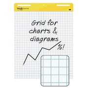 "Post-it® Grid Meeting Chart, 25"" x 30"", White, (560SS)"
