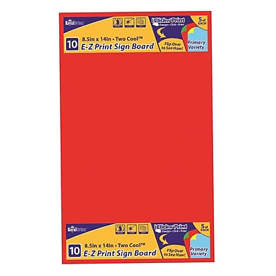 graphic about Printable Poster Board referred to as Geographics E-Z Print Printable Poster Board, For Laser, Inkjet Print, 8.50\