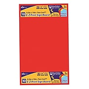 """Geographics E-Z Print Printable Poster Board, For Laser, Inkjet Print, 8.50"""" x 14"""", 1 Each, Assorted"""