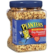Planters 39 Pieces Dry Roasted Peanuts, Lightly Salted (PDRPJAR6)