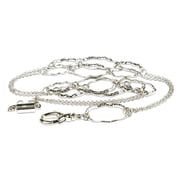 "Cosco® MyID Silver Large Hoop 20"" Breakaway Lanyard for ID Badge Holders, Key Cards and ID Cards"