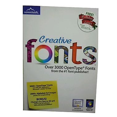 Summitsoft® Creative Fonts Software, Single User, Windows, CD (8063354)