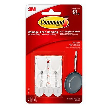 Command™ Medium Wire Toggle Hook, White (17065-ES)