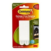 Command™ Large Picture Hanging Strip, White, 4 Pairs/Pack (17206-6ES)
