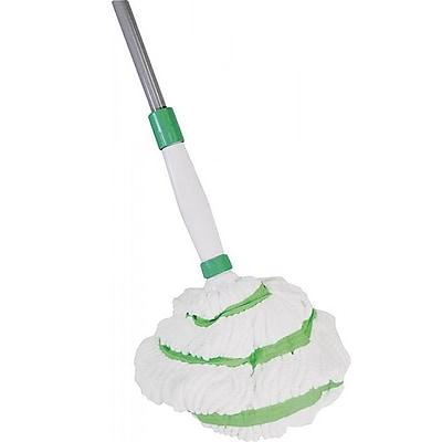 Quickie® 035M-4 Microfiber Twist Mop, White/Green