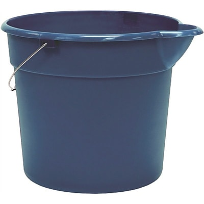 United Solutions Organize Your Home PA0013 4.5 gal Plastic Utility Pail with Handle, Blue