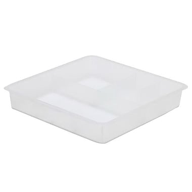 B+in™ Plastic Full Divided Tray, Clear, 5/Pack (BIN-3910010-5)