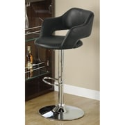 "Monarch Specialties Inc. 30"" Barstool with Hydraulic Lift, Black (I 2357-1)"
