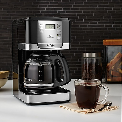 Mr Coffee Jwx27pfwf Advanced Brew Programmable Coffee Maker 12 Cup Black Chrome At Staples