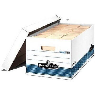Bankers Box® Medium Duty File Storage Box,  8.9 cm H x 94 cm W x 44.4 cm D, Letter Size (70140FF)