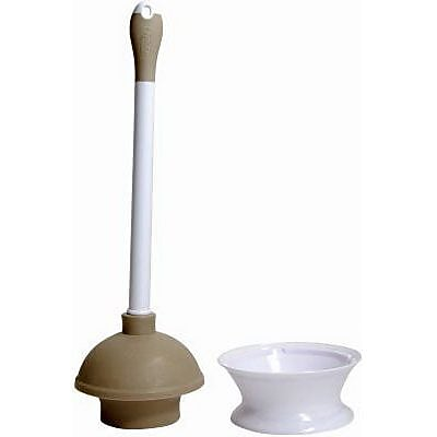 Quickie® Plunger and Caddy with Microban, Taupe (360MB)