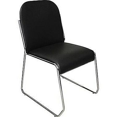 Marco® Chrome Sled Base Chair, Black (608-01-040)