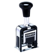 "Cosco® Self-Inking 6-Wheel Automatic Numbering Machine, Black, 3/4"" x 1/4"" (026138)"